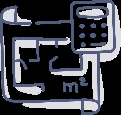 Quadratmeter / Zimmer